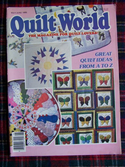 Vintage Quilt World Pattern Magazine May June 1986 Quilting Patterns