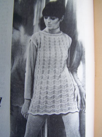 Vintage 20 Crochet Knitting Patterns Dresses Tops Girls Misses Blue Ribbon Patterns Book