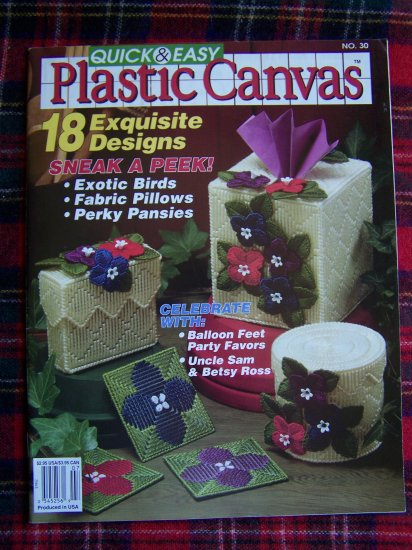 Quick & Easy Plastic Canvas # 30 Magazine 18 Patterns June July 1994
