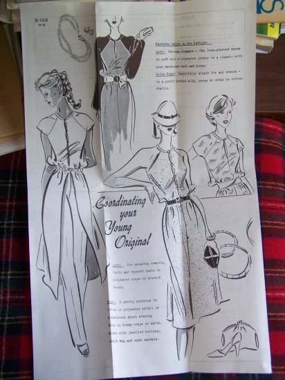 New Vintage Sue Burnett Mail Order Sewing Pattern Evening Dress Sundress Split Tunic B 163