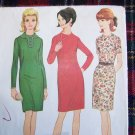 1960s Vintage Dart Fitted Dress McCall's Sewing Pattern 8957 Sz 12 Hi Neck