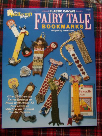 1992 Needlecraft Shop 12 Plastic Canvas Patterns Fairy Tale Bookmarks
