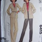 USA 1 Cent Shipping Vintage 70's Shirt Jacket Pants Sewing Pattern McCall's 6415