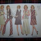 1970's Vintage Sewing Pattern Wardrobe Jumper Dress Vest Pants Sz 10 Simplicity 6525