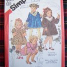 Vintage Toddler Girls Dress Sz 1 Sewing Pattern 5629 Ruffled Lace Ribbon Trim Christmas