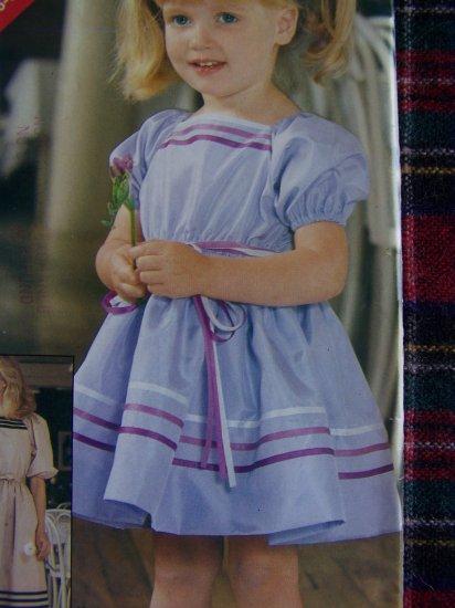 USA 1 Cent S&H Girls 5 6 6X Dress Puff Sleeve Twirl SKirt Vintage Sewing Pattern 5234