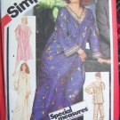80's Vintage Sewing Pattern 5216 Pullover Caftan Nightgown Dress Pajamas Medium