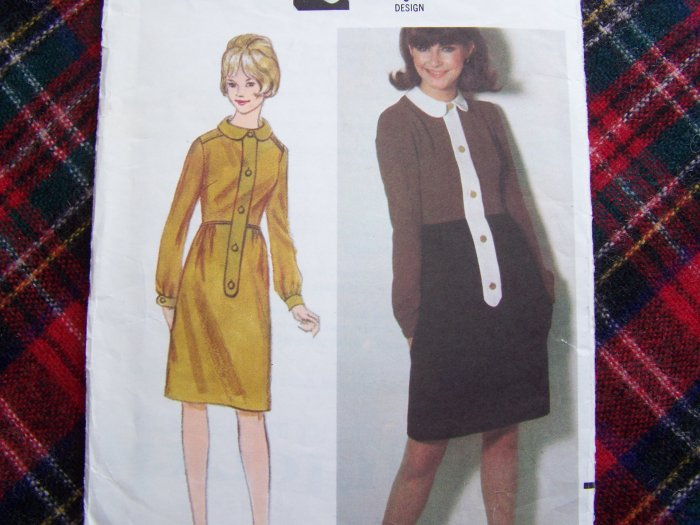 USA 1 Cent S&H Mary Quant 60's Vintage Sewing Pattern 3716 Dress Sz 10