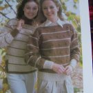 USA 1 Cent S&H Vintage Knit Pattern Misses Cardigan Sweater and Vest 32 - 38