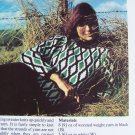 Vintage Lady's Diamond Pullover Sweater Knitting Pattern USA 1 Cent Shipping