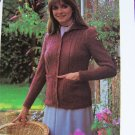 1 Cent USA S&H Vintage Knitting Pattern Misses Classic Cardigan Sweater