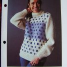 1 Cent USA S&H Vintage 1980's Knitting Pattern Lady's Patterned Sweater