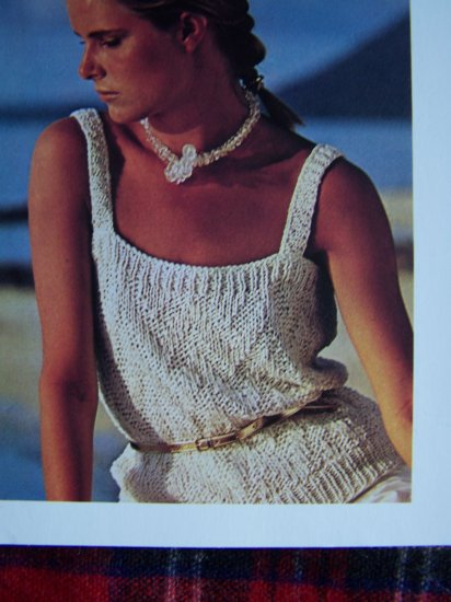 1 Cent USA S&H Vintage Knitting Pattern Misses Summer Knitted Tank Top