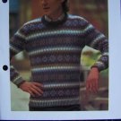 USA 1 Cent Shipping Men's Shetland Sweater Vintage Knitting Pattern