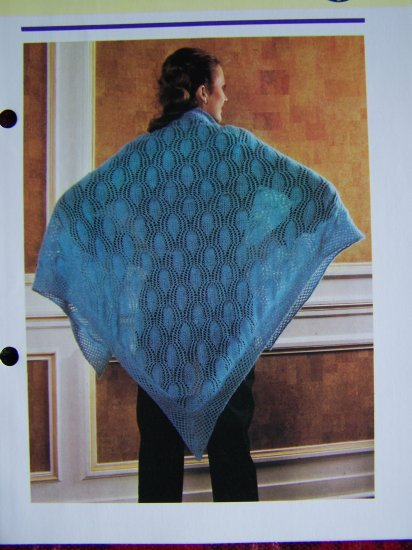 USA 1 Cent Shipping Vintage Lacy Wrap Shawl Knitting Pattern