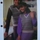 2.99 Vintage Knitting Patterns Fairisle Sweater Vests Fair Isle I Cent USA S&H