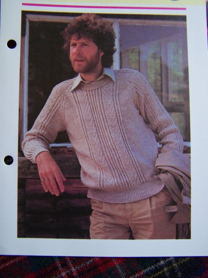 US 1 Cent Shipping Vintage KNitting Patterns Mens Crew or Turtleneck Sweaters