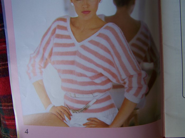 Susan Bates 1980's Vintage Knitting Pattern Book 8 Misses Sweaters Patterns