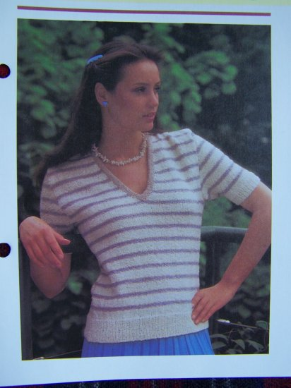 USA 1 Cent Shipping Vintage Knitting Pattern Lady's Summer Sweater Top