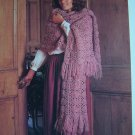 1 Cent USA S&H Vintage Knitting Pattern Big Beautiful Stole Wrap Fringe