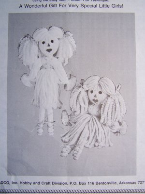 USA 1 Cent S&H Vintage Quick N Easy Persian Cord Rag Doll Pattern
