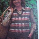 1 Cent USA S&H Vintage Knitting Pattern Plus Size Shetland Pullover Vest