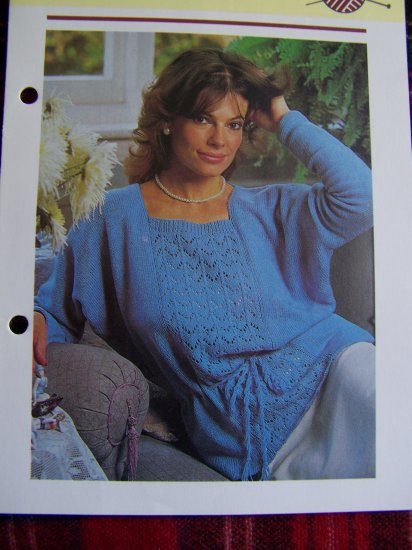 1 cent usa shipping vintage plus size knitting pattern