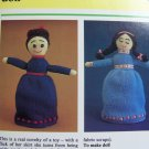 USA 1 Cent S&H Vintage Easy Children's Knitting Pattern Daytime Night Time Flip Doll