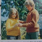 S&H 1 Cent USA Vintage Knitting Pattern Aran Sweaters For Children Boys Girls