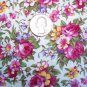 2 Yards Daisy Kingdom Cotton Fabric 3959 Summertime Allover Floral Roses Flowers