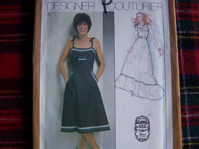 70's Vintage Sewing Pattern Gunne Sax Sundress Maxi Gown Dress 9335