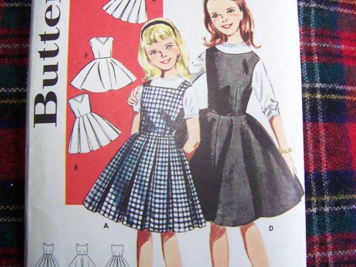 1960s Vintage Girls Variety Jumper Dresses Sz 14 Sewing Pattern 9914