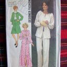 70's Vintage Sewing Pattern 7132 Misses Suit 2 Pc Dress Top Skirt Pants Sz 10
