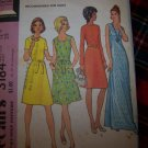 70's Simplicity Sewing Pattern 3184 Sz 12 1/2 Two Length Dress Maxi Gown