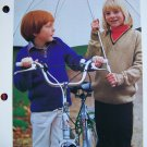 USA 1 Penny S&H Girls Boys V Neck Back To School Sweater Knitting Pattern Kids