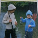 1 Cent USA S&H Vintage Knitting Pattern Turtle Neck Knitted Sweater and Winter Cap