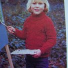 USA 1 Cebt S&H Vintage Childs Knitted Cabled Turtleneck Knitting Pattern