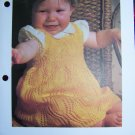 USA 1 Cent S&H Baby Vintage Knitting Pattern Leaf Pattern Pinafore Dress