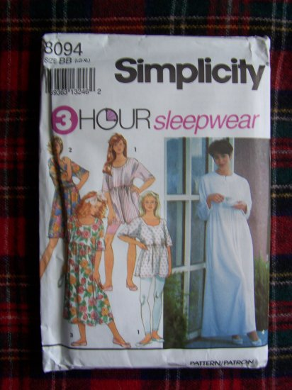 Misses L XL Sleepwear Leggings 3 Length Nightgown Patio Dress Robe Lounge Wear