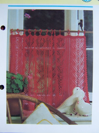 USA 1 Cent S&H Vintage French Cafe Curtains Knitting Pattern