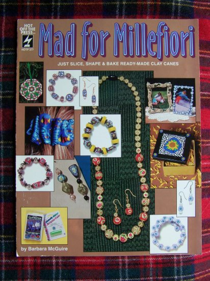 1994 Mad For Millefiori Pattern Leaflet Clay Bead Jewelry Magnets Ornament