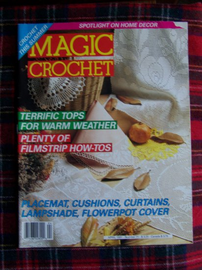 Vintage Magic Crochet Magazine # 71 Crocheting Patterns 35 +
