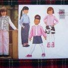 Child's 6 7 8 Girls Winter Wardrobe Butterick Sewing Pattern 6785