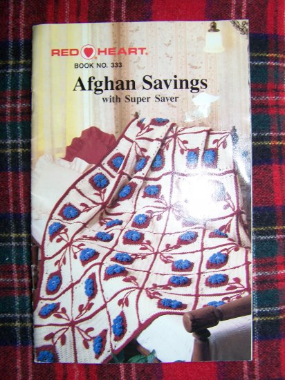 USA $1 S&H 1980's Vintage Afghan Crochet Pattern Book # 333 Crocheting Afghans