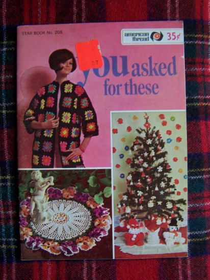 USA 1 Cent S&H Vintage Crochet Patterns Book Coats Doily Christmas Ornaments +