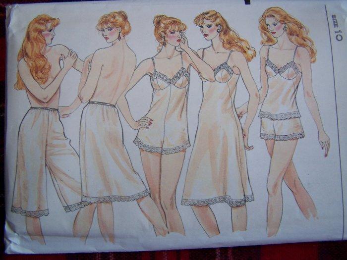 Vintage Vogue Sewing Pattern 8219 Misses Lingerie Teddy Slips Panties Cami