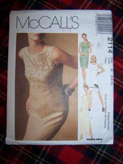 USA 1 Cent S&H Lined Cocktail Dress Evening Gown Sewing Pattern 2114 Uncut Sz 6 8 10