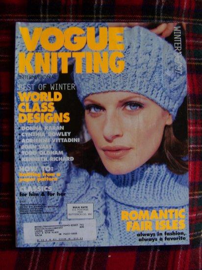 Vogue Knitting Patterns Magazine Winter 1996 1997 Womens Mens Childrens Pattern