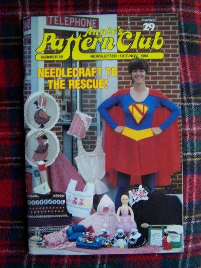 Vintage Annie's Needlecraft Pattern Club Book 29 Newsletter Oct Nov 1984