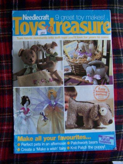 Needlecraft Stuffed Toys to Treasure Pattern Booklet Sewing Knitting Patterns